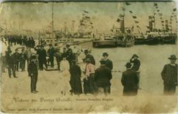 ROMANIA - VEDERE DIN PORTUL GALATI - SOSIREA FAMILIEI REGALE - EDIT NOUA NEGOSCU & MANITIU 1900s POOR CONDITION (BG5973 - Romania
