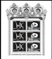 1993, Monaco, 2120/21 Block 59, Europa: Zeitgenössische Kunst. MNH ** - Blocs