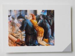 Martin Laurent Partarrieu , Huile Sur Toile 100 / 81 , La Messe Des Chasseurs , Ihiztarien Meza - France
