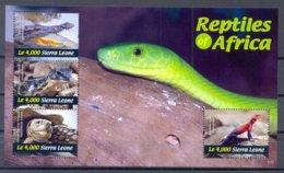 SIERRA LEONE   (AFR 177) - Reptielen & Amfibieën