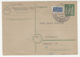 Special Postmark And Berlin Notopfer Imperf. Stamp On Postal Stationery Posted 1949 B191114 - Lettres & Documents