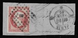N° 17A NAPOLEON III 80 C. CARMIN SUR FRAGMENT OBLITERE TTB COTE 70 € - 1853-1860 Napoleon III