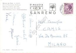 Cartolina S.Remo Auto D'epoca Notturno Timbro Targhetta Mostra Fiori 1968 - Imperia