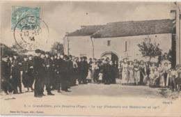 GRANDVILLERS, Près Bruyères ( Vosges ) - Le 149 èmè D'Infanterie Aux Manoeuvres En 1903 ( Carte Animée ). - Altri Comuni