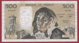 "500 Francs ""Pascal"" Du 07/01/1982.D----F/TTB+---ALPH.B.150 - 500 F 1968-1993 ''Pascal''"