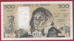 "500 Francs ""Pascal"" Du 05/08/1982.A----F/TTB+---ALPH.X.157 - 500 F 1968-1993 ''Pascal''"