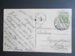 """81 Wapenschild Op PK Uit Namur - Brugstempel """"Namur (station) Depart Naar Yvoir - 1893-1907 Coat Of Arms"""