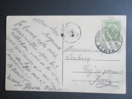 "81 Wapenschild Op PK Uit Namur - Brugstempel ""Namur (station) Depart Naar Yvoir - 1893-1907 Wappen"