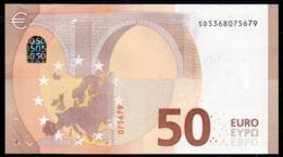 """50 EURO ITALIA  SD  S030  Ch. """"36""""  - DRAGHI   UNC - 50 Euro"""