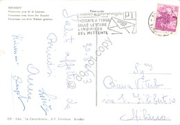 Cartolina Brindisi Panorama Da Casale Timbro A Targhetta PT 1963 - Brindisi