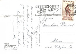 Cartolina Trieste Colle S, Giusto Timbro A Targhetta Stradale 1960 - Trieste