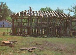 Landes        H201        Sabres.Reconstruction D'une Grange Près De La Maison Du Meunier - Sabres
