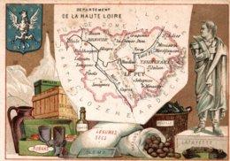CHROMO DEPARTEMENT DE LA  HAUTE-LOIRE - Trade Cards