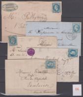 Lot De Lettres Timbres Napoléon III Lauré N°29 - Poststempel (Briefe)
