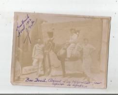BOU DENIB (MAROC) PHOTO DEPART D'1 TELEGRAPHISTE POUR REPARER LA LIGNE (MILITAIRES FRANCAIS) AVRIL 1912 - Krieg, Militär