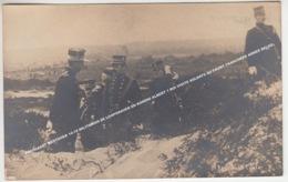 FOTOKAART WESTHOEK 14-18 MILITAIREN DE LOOPGRAVEN EN KONING ALBERT 1 ROI VISITE SOLDATS AU FRONT TRANCHEES ARMEE BELGE - Ohne Zuordnung