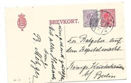 DK-GA224 / DÄNEMARK - Mi.Nr. P 181 II, (mit Teilstrich) Nach Königs Wusterhausen/Deutschland 7.1.1922 Ex Skodsborg - 1913-47 (Christian X)