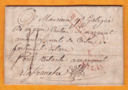 1835 - Lettre Avec Corresp Filiale En Français De Bergamo, Bergame, Italie Vers Mazamet, Tarn, France, Poste Restante - Italie