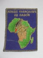 Ecusson De Régiment En Tissu - FORCES FRANCAISES AU GABON    ***** EN ACHAT IMMEDIAT **** - Ecussons Tissu