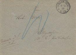 Env Obl ZABERN (ELS) Du 9.10.89 Adressée à Willgotthrim Taxée 10 Pfg Au Crayon Bleu - Marcophilie (Lettres)