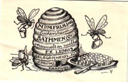 2 Ex Libris Bees Honey Miel Ruche Abeilles Beehive Bienenstock - Trade Cards