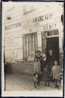 """ANCENIS - CARTE PHOTO - TONNELIER """" GUITTON CORABOEUF - MAGASIN - DEVANTURE - TONNELLERIE - ANIMATION - BEAU PLAN - Ancenis"""