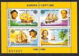 Cept 1992 Roumanie Romania Yvertn° Bloc 220 *** MNH  Europa - Europa-CEPT