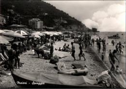 ! Ansichtskarte Maiori, Spiaggia, Strand, Italien - Salerno