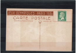 LCTN58/PM3 - CP TSC PASTEUR 15c JEUX OLYMPIQUES PARIS 1924 JAVELOT NEUVE - Postal Stamped Stationery