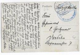1915 - REICH - FELDPOST - CP Du KRONPRINZ (DOS) Avec CACHET KAISERLICHE MARINE 1 Abt.V.mATROSEN-REGIMENT - Lettres