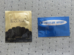 Pochette Parfumée Elizabeth Taylor, Latitude Sport Kersauson - Perfume Cards