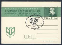 Poland Polska Polen 1978 Karte Card – Automatisierung.Telemechanik.Solidarität Mit Eisenbahnen Sowjetunion- Ausstellung - Trains