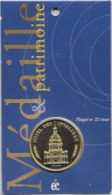 Jeton Touristique Encart Médaille Et Patrimoine Invalides Plaqué Or 22 Carats Invalides - Non Classés
