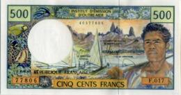 Billet De 500 Francs Outre-mer - Papeete (French Polynesia 1914-1985)