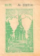 Erlaubniskarte Zur Besteigung Des Hermannsdenkmals (Sinalco) - Eintrittskarten