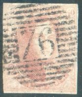 N°5 ) Médaillon 40 Centimes Carmin-rose Pâle, Bien Margé; Obl. P.76 LOUVAIN Centrale.  14807 - 1849-1850 Médaillons (3/5)