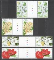 D718 1999 TONGA FLORA FLOWERS #1556-59 !!! MICHEL 13 EURO GUTTER 2SET MNH - Vegetales