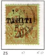 Ex Colonie Française  * Tahiti  * Poste  25  Obl - Tahiti (1882-1915)