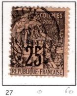 Ex Colonie Française  * Tahiti  * Poste  27  Obl - Tahiti (1882-1915)