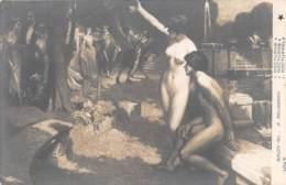 """ILLUSTRATEUR - A. FAUGERON  """"NOCTURNE"""" - COUPLE - NU FEMININ - NU MASCULIN - SALON 1911 - Illustrateurs & Photographes"""