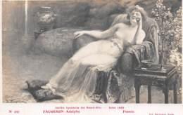 """ILLUSTRATEUR - A. FAUGERON  """"FUMEE"""" - FEMME - NU FEMININ - SOCIETE LYONNAISE DES BEAUX ARTS - Illustrateurs & Photographes"""