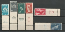 Israel 1950 Birds Y.T. A1/6 ** - Luchtpost