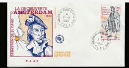 DC TAAF  Sébastien  El Cano - Découverte D' Amsterdam - Martin De Vivies - St Paul - 1980. - FDC