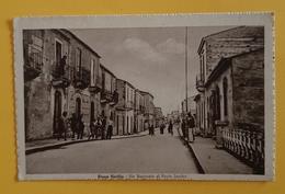 Cartolina Nizza Sicilia - Via Nazionale Al Ponte Landro - 1942 Ca. - Messina
