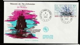 FDC TAAF  Victoria Découverte D' Amsterdam - Martin De Vivies - St Paul - 1980. - FDC