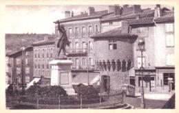 43  - Haute Loire -  LE PUY En VELAY - La Statue De Lafayette Et La Tour  Parmessac - Le Puy En Velay