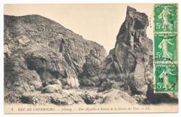 MANCHE CP 1918 NACQUEVILLE RECETTE DISTRIBUTION - 1877-1920: Periodo Semi Moderno