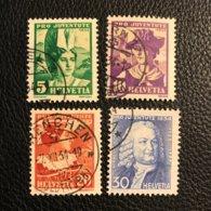 Schweiz Pro Juventute 1934 Zumstein-Nr. 69-72 Gestempelt - Kompletter Satz - Oblitérés