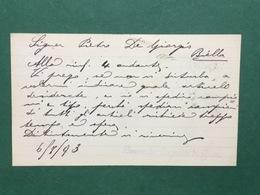 Cartolina Bernardo Caprotti Di Gius. - Fonte Abbiate - Prov. Di Milano - 1893 - Cartoline