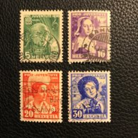 Schweiz Pro Juventute 1936 Zumstein-Nr. 77-80 Gestempelt - Kompletter Satz - Oblitérés